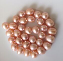 Rice Natural Pink Colour Hdd Pearls Loose 5-6mm, 6-7mm, 8 - 9mm - Aaa Seller