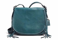 NWT Coach Whiplash Saddle Bag in Leather 1941 Collection Mineral Teal F38219