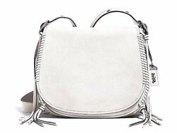 NWT Coach Whiplash Saddle Bag in Leather 1941 Collection Chalk White F38219