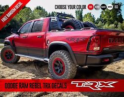Dodge Ram Dakota Rebel Trx Side Graphics Vinyl Decals Stickers Pick Up Truck Set