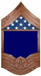 Air Force Chief Master Sergeant Military Award Shadow Box Medal Display Case