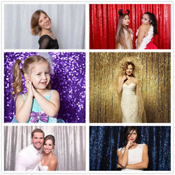 4ftx6.5ft Sequin Wedding Backdrop Sparkly Photography Backdrop For Wedding