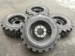 4 NEW 12-16.5 Carlisle Guard Dog Tires & Black Rims/Wheels -12X16.5-HEAVY DUTY