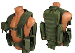 Green Od Molle Pals Paintball Modular Vest Airsoft Chest Rig Olive Kit №34