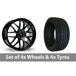 4 X 22 Riva Dtm Black Alloy Wheel Rims And Tyres - 265/35/22