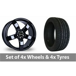 4 X 20 Riva Fwd Black Alloy Wheel Rims And Tyres - 275/40/20