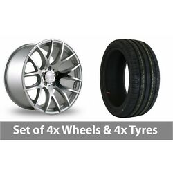 4 X 20 Threesdm 0 01 Silver Polished Alloy Wheel Rims And Tyres - 225/30/20