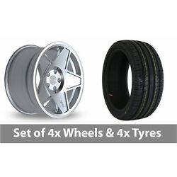 4 X 19 Threesdm 0 05 Silver Polished Alloy Wheel Rims And Tyres - 235/35/19