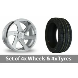 4 X 19 Threesdm 0 06 Silver Polished Alloy Wheel Rims And Tyres - 235/40/19
