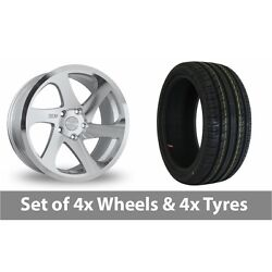 4 X 19 Threesdm 0 06 Silver Polished Alloy Wheel Rims And Tyres - 255/40/19