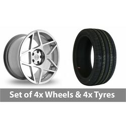 4 X 20 Threesdm 0 08 Silver Polished Alloy Wheel Rims And Tyres - 225/30/20