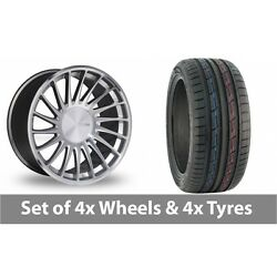4 X 19 Threesdm 0 04 Silver Polished Alloy Wheel Rims And Tyres - 235/50/19
