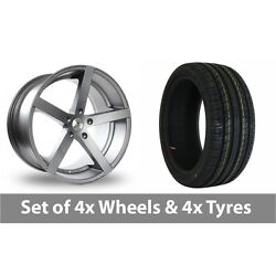 4 X 18 Ac Wheels Star Five Grey Alloy Wheel Rims And Tyres - 215/35/18