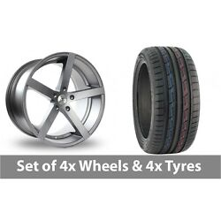 4 X 19 Ac Wheels Star Five Grey Alloy Wheel Rims And Tyres - 235/50/19