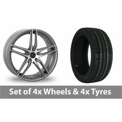 4 X 16 Ac Wheels Shot Grey Polished Alloy Wheel Rims And Tyres - 215/55/16