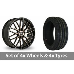 4 X 19 Ac Wheels Syclone Black Alloy Wheel Rims And Tyres - 255/35/19