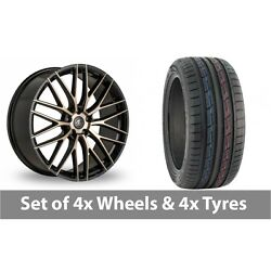 4 X 19 Ac Wheels Syclone Black Alloy Wheel Rims And Tyres - 235/50/19