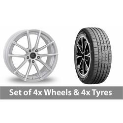 4 X 19 Ac Wheels Cruze Silver Alloy Wheel Rims And Tyres - 255/45/19