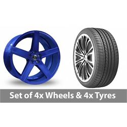 4 X 19 Diewe Cavo Blue Alloy Wheel Rims And Tyres - 265/35/19