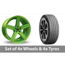 4 X 19 Diewe Cavo Green Alloy Wheel Rims And Tyres - 255/45/19