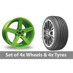 4 X 20 Diewe Cavo Green Alloy Wheel Rims And Tyres - 235/35/20