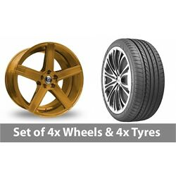 4 X 20 Diewe Cavo Gold Alloy Wheel Rims And Tyres - 235/35/20