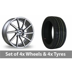 4 X 19 Bola Zzr Silver Polished Alloy Wheel Rims And Tyres - 255/35/19