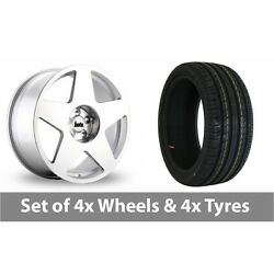 4 X 19 Bola B10 Silver Polished Alloy Wheel Rims And Tyres - 235/40/19