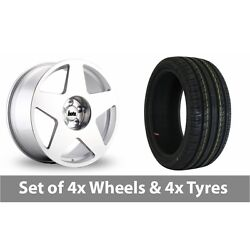 4 X 19 Bola B10 Silver Polished Alloy Wheel Rims And Tyres - 255/35/19
