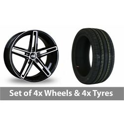 4 X 19 Bola B3 Black Polished Alloy Wheel Rims And Tyres - 255/40/19