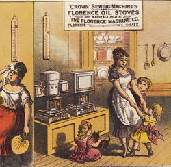 Hot Mom Florence Oil Stove Crown Sewing Machine Before And After Williamsport Card