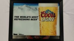 Coors Light 32 X 26 Reflective Plaque Mirror Sign