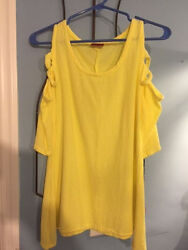 NWT Oh My Gauze Size 1 Miami Lagenlook Tunic Top Cotton Open Shoulder 5 colors $36.00