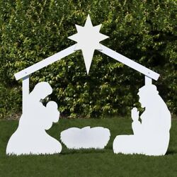 Outdoor Nativity Store Holy Family Outdoor Nativity Set Large, White