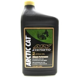 1 Quart Of Arctic Cat Apv Synthetic 2-stroke Snowmobile Injection Oil 4639-349