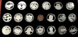 1993 Silver .999 Germany 1000 Grams Kilo 50 Years Of History 20 Medal Set