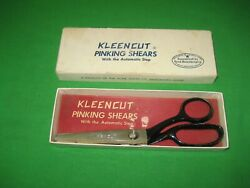 Vintage Kleencut Pinking Shears With The Automatic Stop Acme Shear Co