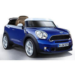 Mini Cooper Paceman Blue Powered Ride On Toy Car Real Sounds Led Lights 6 Volt