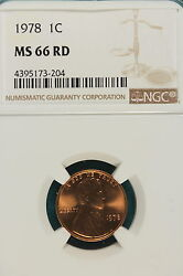 1978 P Ngc Ms66 Red Lincoln Memorial Cent A5998