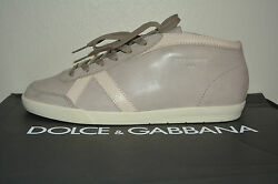 Nib Dolce And Gabbana Mens Vintage Leather Sneakers Sz Us 9.5 Eu 43.5 Italy