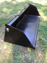 New 90 Skid Steer/tractor Snow/mulch 7 1/2and039 Bucket-for Bobcat Case Cat And More