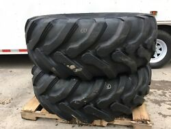 2 New Galaxy 19.5l-24 Backhoe Tires - 12pr - R4-19.5lx24 - For Case Cat And More