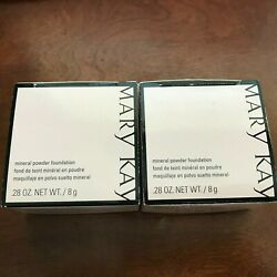 1 or 2 Mary Kay MINERAL Powder Foundation WITH or WITHOUT BRUSH, CHOOSE SHADE