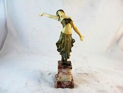 ART DECO COLD PAINTED BRONZE OF A DANCER  BY LOUIS SOSSON SIGNED C1920'S
