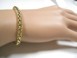 Rare And Co 14k Yellow Gold Braid Weave Bracelet Exc Cond Pouch 7 Box