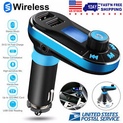 Car Fm Transmitter Handsfree Wireless Mp3 Player Radio Adapter Dual Usb Charger