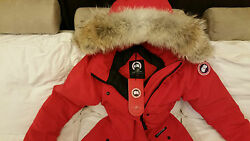 2018 LATEST ARRIVAL CONCEPT EDITION RED CANADA GOOSE TRILLIUM SMALL PARKA JACKET