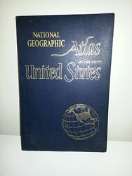 Vintage 1960 National Geographic Atlas Of 50 United States Maps