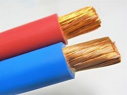 500 Ft 1/0 Awg Welding Battery Cable 250and039 Red 250and039 Blue 600v Made In Usa Copper