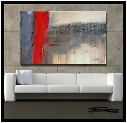 ABSTRACT MODERN CANVAS PAINTING CONTEMPORARY WALL ART Large Framed US  ELOISExxx